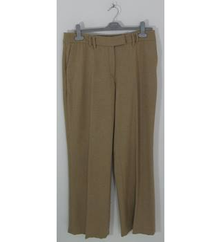 Betty Barclay Collection Beige Wool Wide Leg Trousers UK Size 16