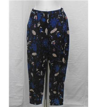 Anokhi size 14 blue and purple floral patterned trousers