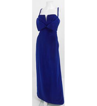 Vintage 1960's Frederick Starke Size 12 Royal Blue Evening Dress