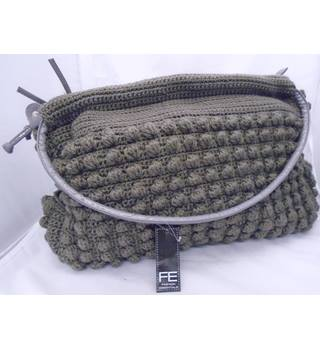 BNWT - Fashion Essentials - Knitted - Charcoal Grey - Hobo Style - Large Handbag