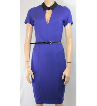 French Connection - Size: 10 - Purple/Blue - Knee length dress