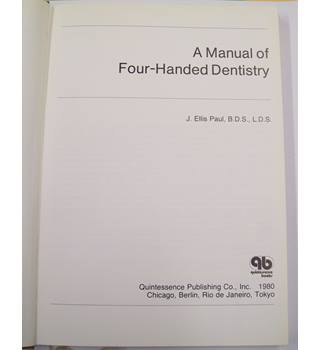 A manual of four-handed dentistry