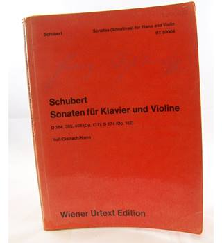 Schubert - Sonatas for Piano and Violin.