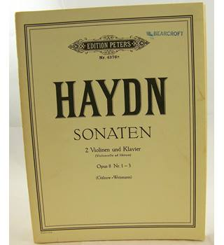 Haydn - Sonatas for Two Violins and Piano. Opus. 8. Nos. 1-3.