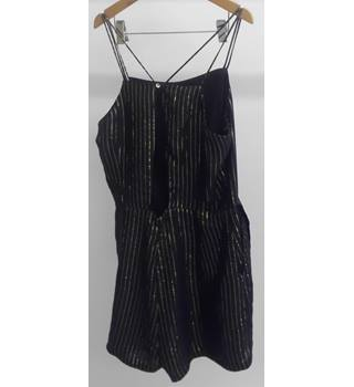 Per Una Black Playsuit  Size: 12 Black