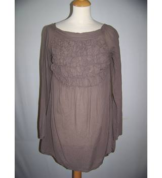sugar - Size: S - Brown - Smock top