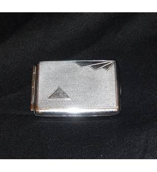 Vintage Chrome Matchbook Case - 1950's