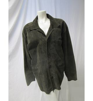 Unbranded Size XL Real Leather Coat Unbranded - Size: XL - Green