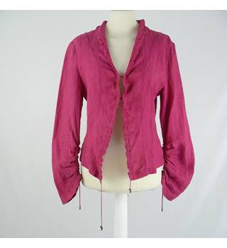 Claudia Strater - Size: 12 - Crimson Pink - Linen Top