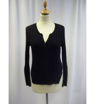 Sandwich - Size: S - Black - Long sleeved Zip up Top