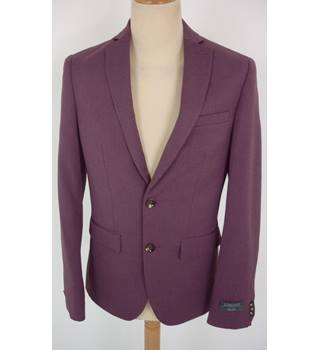 "M & S Size: Jacket, M, 38"" chest, super slim fit & Trousers, 30"" W, 29"" L  Rose Red  Smart Polyester Blend Suit"