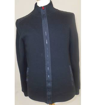 M&S Blue Harbour  Size S Navy Blue Cotton Zipped  Jacket