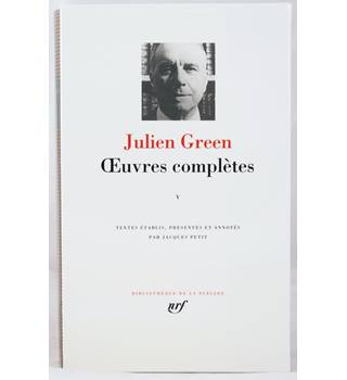 Julien Green Complete Works Volume 5. French Language.