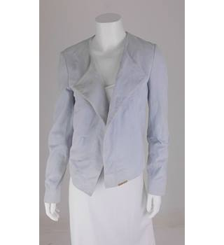 Ted Baker Size 10 Pale Blue Waterfall Suede Jacket