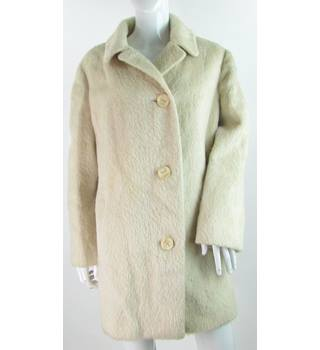 Unbranded - Size: 18 - Cream - 100% Mohair - Casual Coat