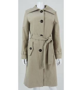 Marks & Spencer Size 12 Stone Beige Winter Coat