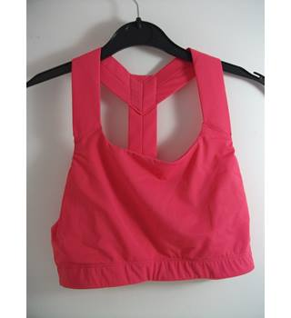 Marks & Spencer Shocking Pink Sports Bra / Crop Top Size Large