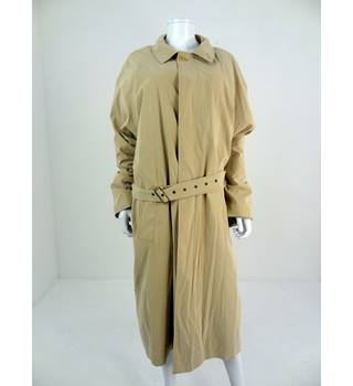"Harrods Size 42"" Chest Sand Trench Coat"