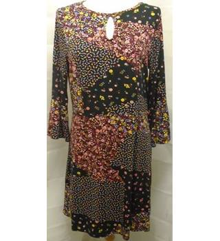 BNWT Next  Size 12  Black With Pink, Red, Yellow & Blue Floral Print Smock Top
