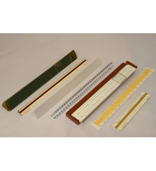 Aristo 99 Slide Rule and assorted scale rules
