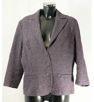 M&S Jacket - Grape - Size L (approx Size 16) M&S Marks & Spencer - Size: L - Purple