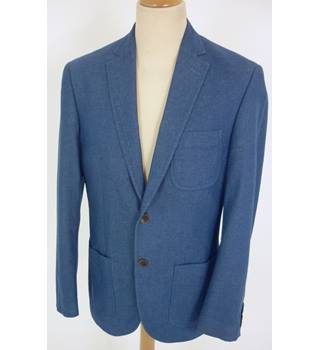 "M & S  Size: M, 38"" chest, regular fit Denim Blue Casual/Stylish Pure Cotton Single Breasted Jacket"
