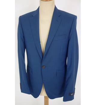"M & S  Size: S, 36"" chest, tailored fit Blue Casual/Stylish Pure New Wool ""Savile Row Inspired""Single Breasted Jacket"