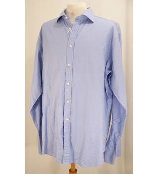 T.M. Lewin - Neck 18 - Blue - Long-Sleeved Shirt