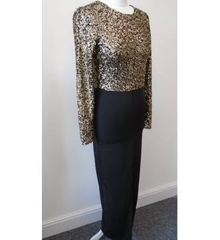 Lavish Alice Size: 8 Black & Gold Evening dress