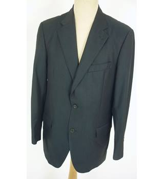 "Burberry (London) Size:  M, 41"" chest, tailored fit Dark Navy Blue With Fine Pinstripe Smart/Stylish Wool Designer Jacket"