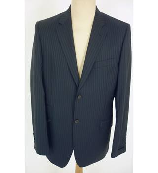 "Ted Baker Size: Jacket, 42"" chest, trd fit & Trousers, 36"" W, 36"" L Dark Navy ""Notch"" Stylish Wool Designer Single Breasted Suit"