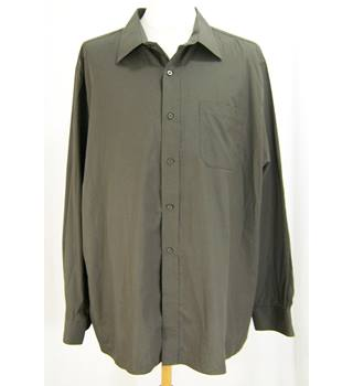 "George - Neck 18"" - Brown - Long Sleeved Shirt"
