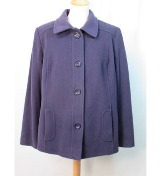 Eastex - Size: 14 - Purple Wool - Smart jacket / coat