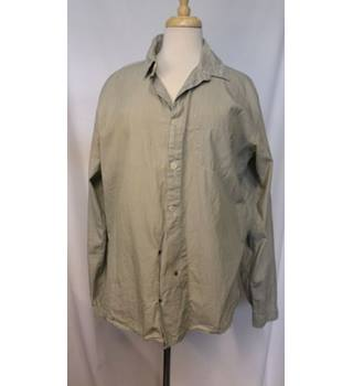 Folk - Size: XL - Grey/Taupe - Long sleeved cotton shirt