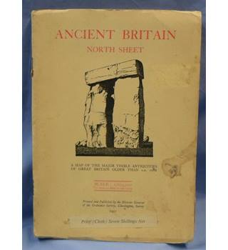 1951 Ancient Britain North Sheet. A Map of the Major Visible Antiquities of GB older than A.D. 1066