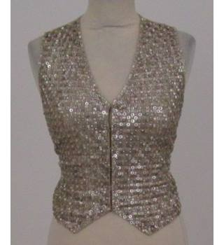 P.A.R.O.S.H. - Size: S - gold embroidered fitted waistcoat