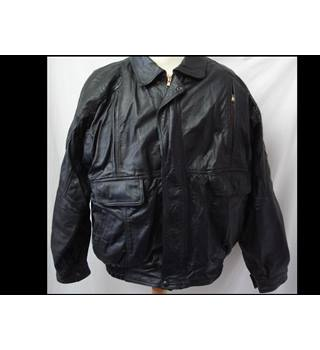 Real Leather 2000AD - Size: L - Black - Biker style leather jacket