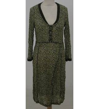 Sandwich Size: S Green brown camouflage mix dress