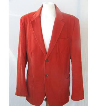 50% OFF SALE Kenneth Cole Orange/Rust Blazer Kenneth Cole - Size: XL - Orange - Jacket