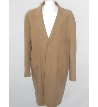 50% OFF SALE Banana Republic Mens Long Mustard Coat Size Large Banana Republic - Size: L - Brown - Coat