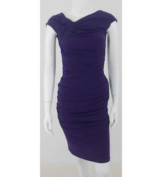 Phase Eight Size 8 Deep Violet Rouched Party Dress