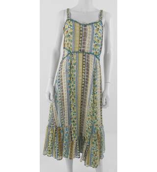 M&S Per Una Size 10 Geometric Print Long Dress