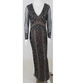 River Island Size 10 Full Length Embellished Party Dress