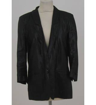 River Island - Size: 10 - Metallic Black - Casual Jacket