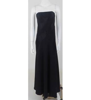 Pierce Fionda Size 10 Black Strapless Floor Length Evening Dress