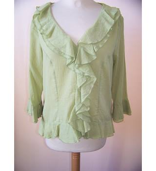 M&S Marks & Spencer - Size: 12 - Green - Blouse