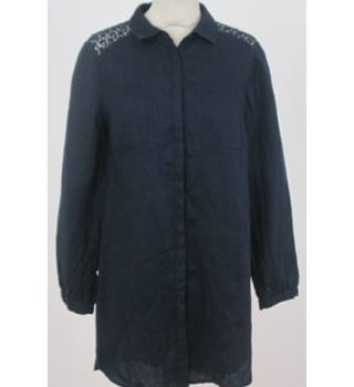 Monsoon - Size: 10 - Dark Blue - Long sleeved shirt