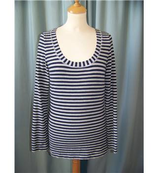 Boden Size 6  Navy and Grey Horizontal Striped Jumper