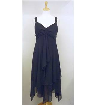 Next size 12 black crepe effect dress