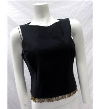 Wallis Size 18 Black Beaded Hem Top